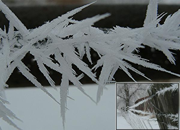 Ice crystal closeup