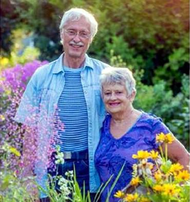 Larry & Wilma in garden-cropped version