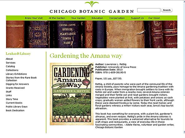 Book review by Chicago Botanic Garden